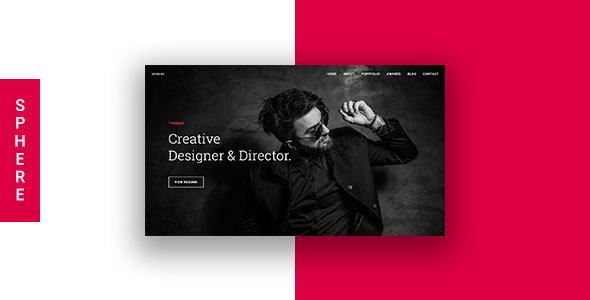 Sphere - Creative Onepage Portfolio HTML Template            TFx Travis Mark