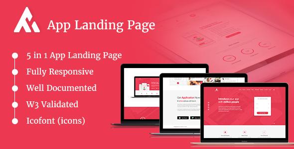 AppRaxx - 5 in 1 App Landing Page            TFx Ken Kenton