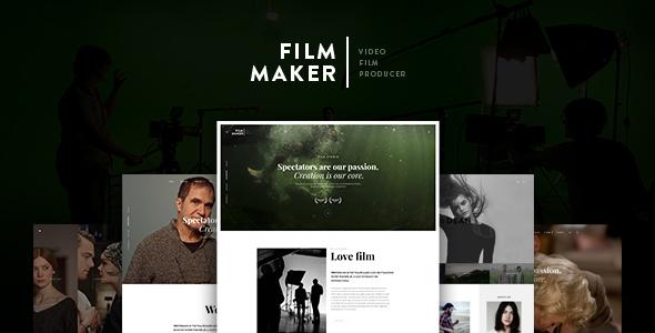 FilmMaker Drupal 8 Theme Movie Production - Video Blogger - Creative Agency            TFx Ferdie Timour