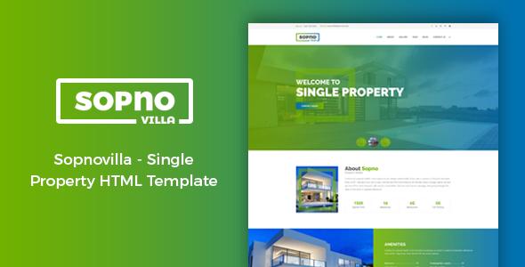 Joomla Single Property Rental Theme Template
