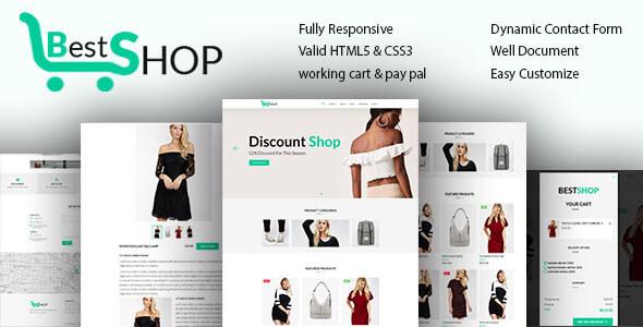 Bestshope - One Page Mini eCommerce Shop Templates            TFx Brett Malone