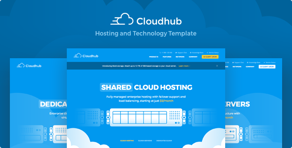 Cloudhub Hosting and Technology HTML Template            TFx Wilton Forrest