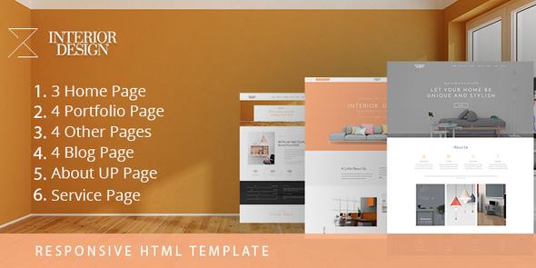 Interior Design - HTML5 Template for Interior Designer            TFx Tasunka Naoki