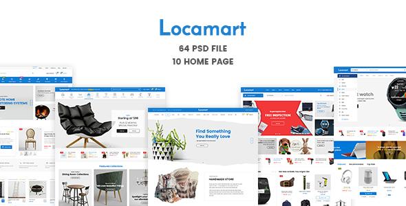 Locamart | Multipurpose Electronics eCommerce PSD            TFx Brock Kuro