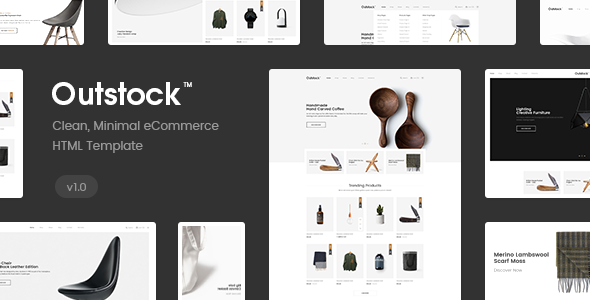 Outstock - Clean, Minimal eCommerce HTML5 and Bootstrap Template            TFx Harding Jake