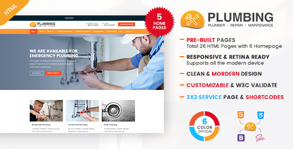 Plumbing - Plumber and Repair Services Template            TFx Jayson Harlan
