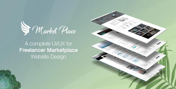Yes Market Place - Freelance Marketplace PSD Template            TFx Eli Lester