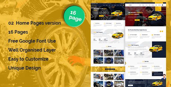 AutoWash - Car Wash & Car Repair HTML5 Responsive Template            TFx Mervyn Gall