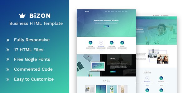 Bizon - Business and Agency HTML Template            TFx Kouta Kenelm