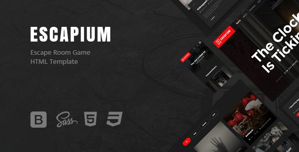 Escapium - Escape Room Game HTML Template            TFx Codie September