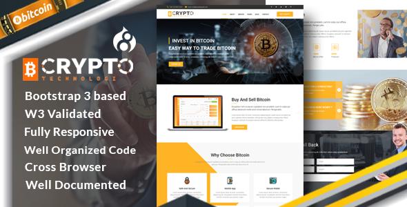 Crypto - Bitcoin Crypto Currency Drupal 8.4 Theme            TFx Davis Keaton