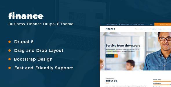 Finance - Consulting & Business Multipurpose Drupal 8 Theme            TFx Durward Ralph