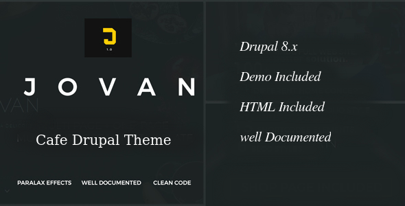 Jovan | Cafe & Restaurant Drupal 8 Theme            TFx Paden Chester