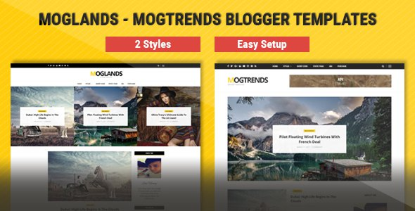 Mogtemplates - MogLands Template For Blogger - 2 Styles            TFx Valerian Lacy