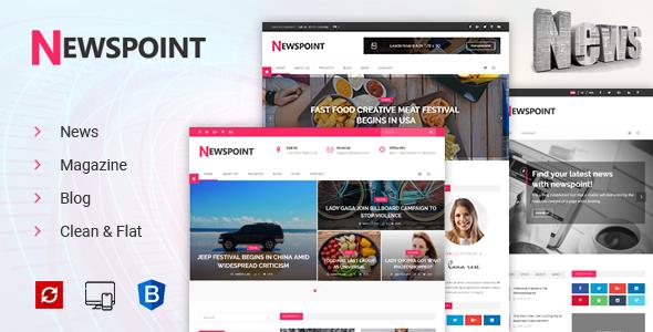 Newspoint - News, Magazine & Blogging HTML Template            TFx Bryon Jed