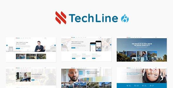 TechLine - Web services, businesses and startups Drupal 8.4 Theme            TFx Balfour Ellery