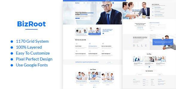 BizRoot - Business and Finance PSD Template            TFx Orson Casimir