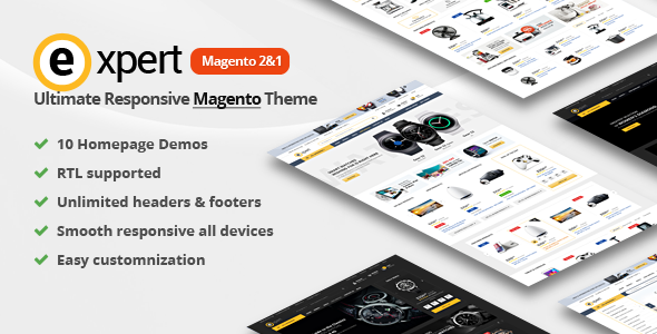 Expert | Premium Responsive Magento 2 and 1 ( support RTL Magento 2 )            TFx Cuthbert Diggory