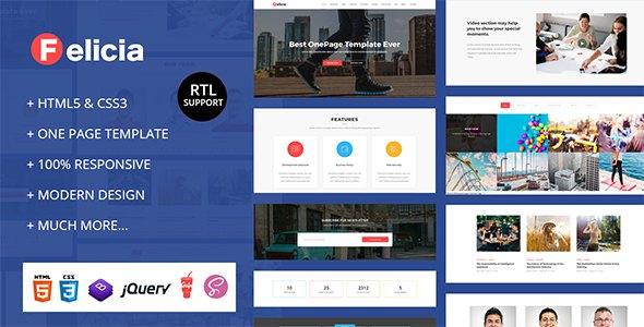 Felicia - Parallax One Page HTML Template            TFx Archibald Yori