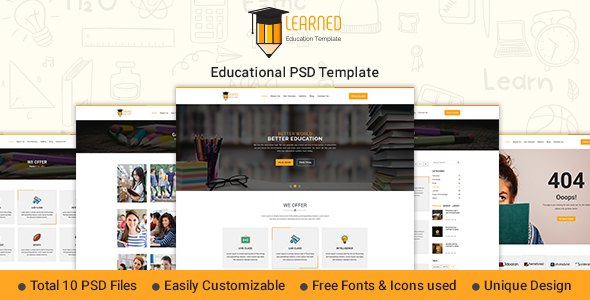 Learned - Education PSD Template            TFx Ace Quintin