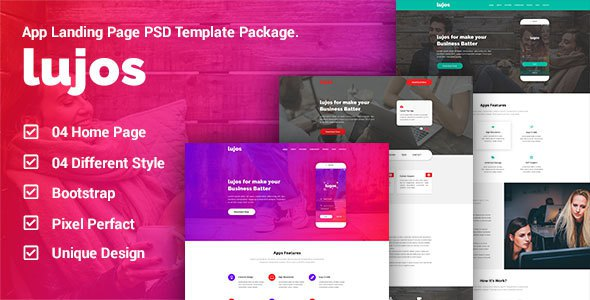 Lugos - App Landing Page PSD Package            TFx Colin Diggory