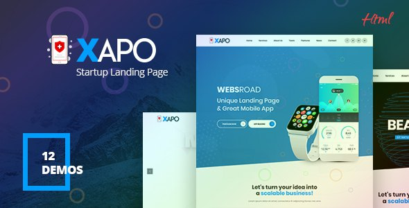Xapo - Responsive Landing Page Template            TFx Ovid Quinton