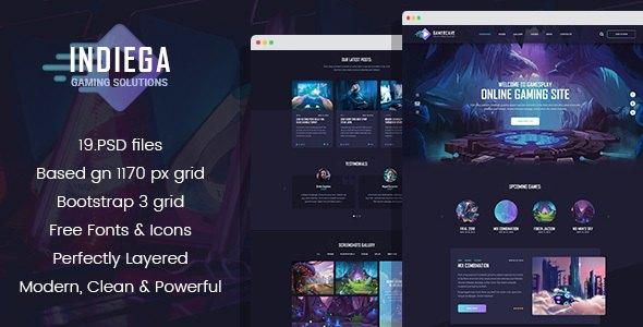 Indiega - Gaming PSD Template            TFx Freeman Aqissiaq
