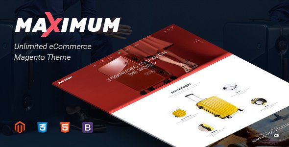 Maximum - Multipurporse Responsive Magento 2 Theme | Suitcase Store | Headphone Store            TFx Darby Bryn