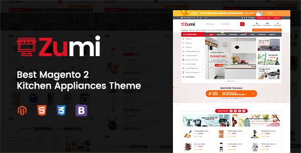 Zumi - Flexible and Modern Kitchen Appliance Magento 2 Theme            TFx Porter Arron