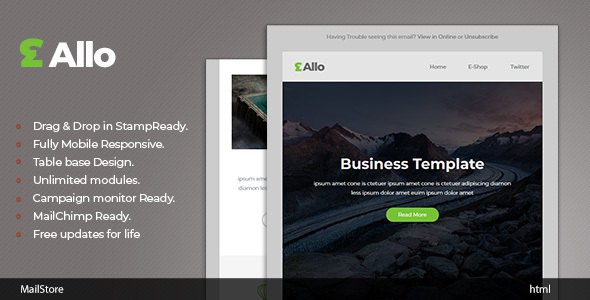 Allo - Responsive Email template with Stampready Builder            TFx Bill Freeman