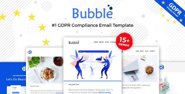 Bubble - GDPR Compliance Responsive Email Notification - Online Builder + Mailster + Mailchimp            TFx Yuda Casey