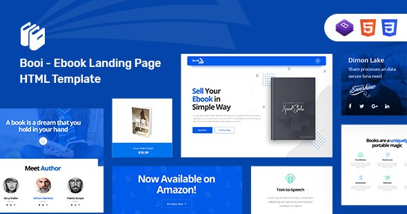 Booi - Responsive HTML5 Ebook Landing Page            TFx Legend Bronte