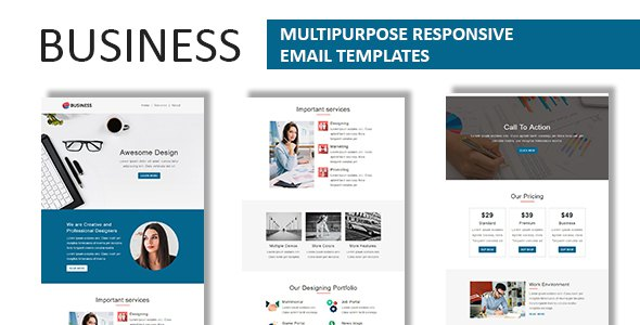 Business - Multipurpose Responsive Email Template with Online StampReady Builder Access            TFx ThemeFre