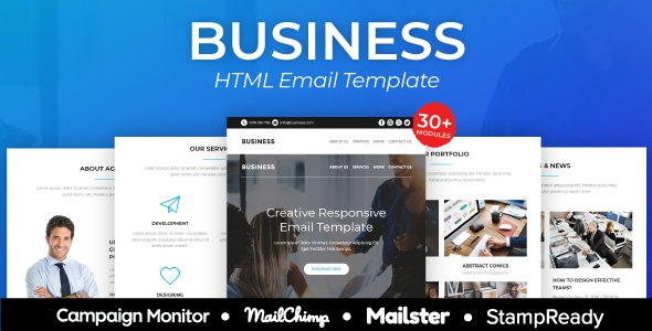 Business - Responsive Email Template 30+ Modules - StampReady Builder + Mailster & Mailchimp            TFx Jimi Levi