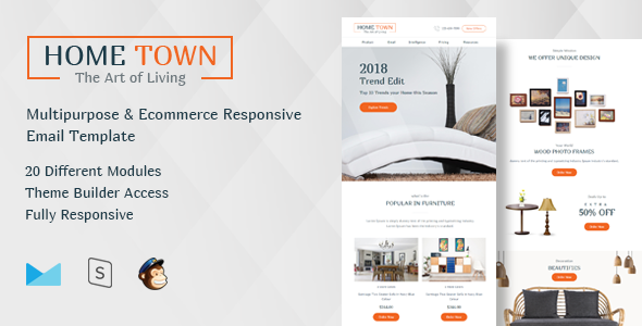 HomeTown-Multipurpose Ecommerce Responsive Email Template            TFx Wolf Dillon