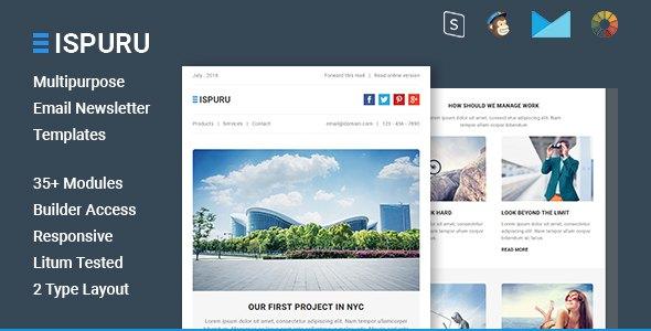 Ispuru - Multipurpose Email Newsletter Templates            TFx ThemeFre