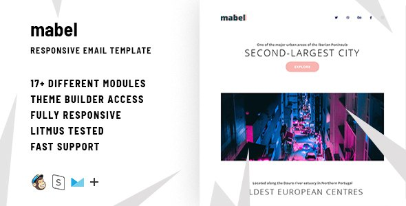Mabel – Responsive Email + StampReady Builder            TFx Donnie Emery