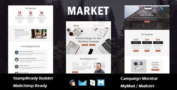 Market - Multipurpose Responsive Email Template With Online StampReady Builder Access            TFx ThemeFre