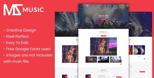 Msmusic - Music PSD Template            TFx Asher Zhirayr