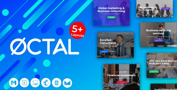 Octal -Agency Email for Consulting, Financial Business - StampReady Builder + Mailster & Mailchimp            TFx Fitzroy Gerald