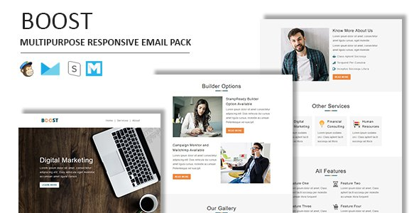 Boost - Multipurpose Responsive Email Template With Stamp Ready Builder Access            TFx Loren Winston