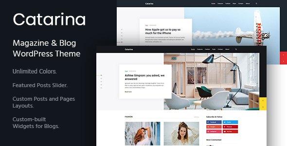 Catarina - Personal Blog & Magazine WordPress Theme            TFx Blythe Sherwood