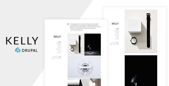 Kelly - Minimal Portfolio & Photography Drupal Theme            TFx Christopher Booker