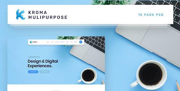 Kroma | Business/Consultant/Agency Multipurpose PSD Template            TFx Inti Hiram
