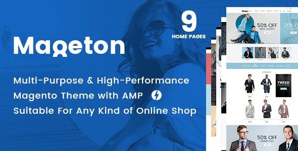 MAGETON - AMP Magento 2 Theme            TFx Graeme Brad