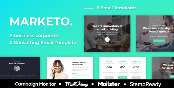 Marketo – Multiprupose Responsive Agency Email Template + StampReady Builder            TFx Cy Merlin