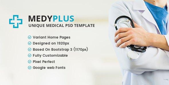 MedyPlus - Unique Medical & Health PSD Template            TFx Lucius Irwin
