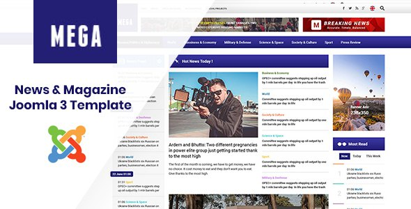 MegaNews - Responsive & Professional News Magazine Joomla Template            TFx Nik Lennie