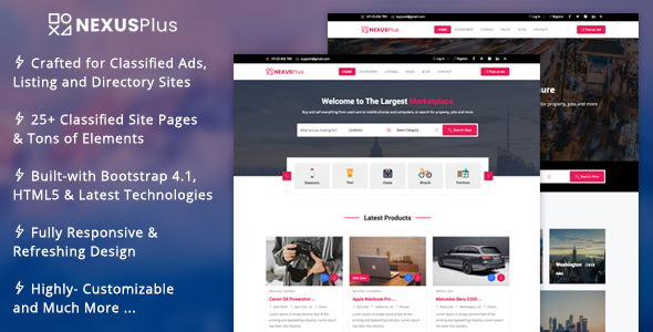 NexusPlus - Classified Ads Website Template            TFx Morty Dexter
