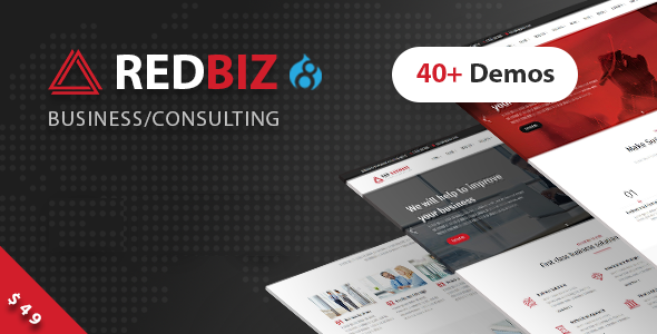 RedBiz - Business & Consulting Multi-Purpose Drupal 8 Theme            TFx Rayner Kenji